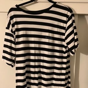 Barney cools black white striped tee